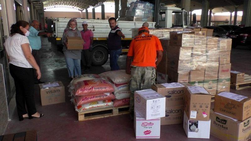 Kuyucak'tan sel bölgelerine gıda yardımı