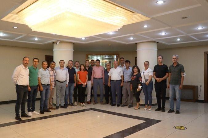 Sendika temsilcilerinden Başkan Özcan'a ziyaret