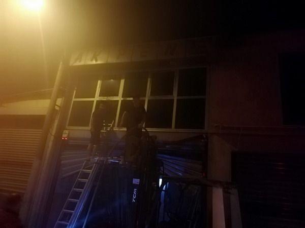 Germencik'te mobilya dükkanında yangın