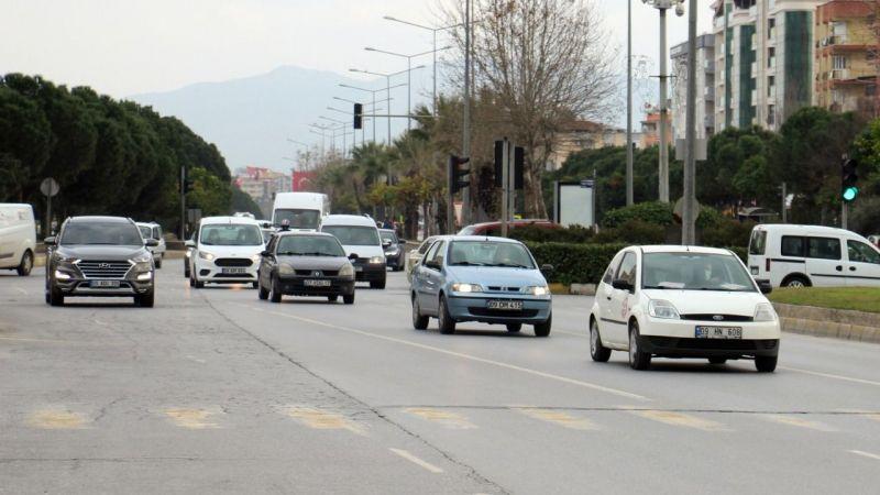 Aydın'da araç sayısında artış