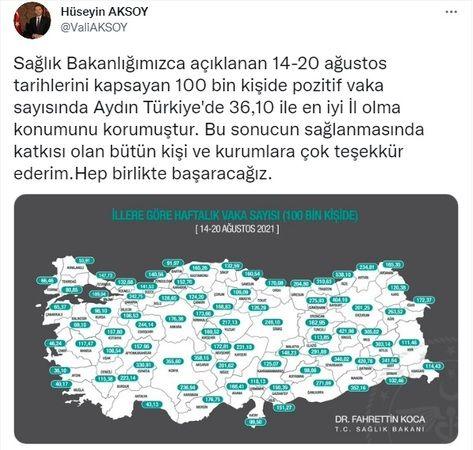 """Vali Aksoy; """"Aydın Türkiye'de iyi İl"""""""
