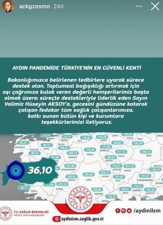 """""""Aydın pandemide Türkiye'nin en güvenli kenti"""""""