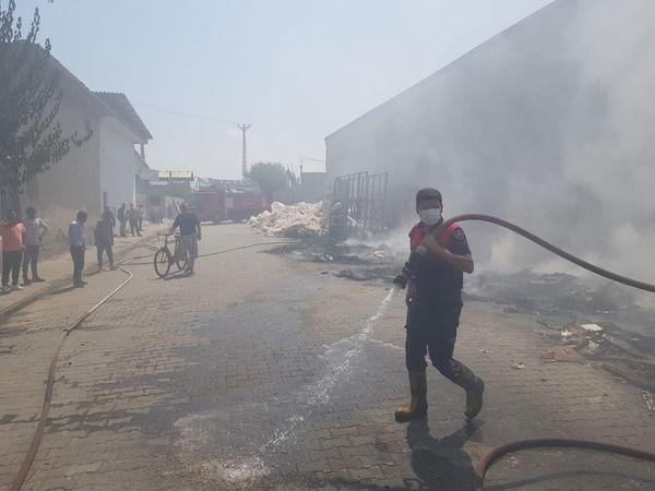 İncirliova'da yangın