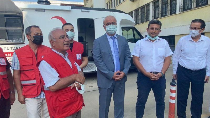 Nazilli'de hayırsever iş insanından Türk Kızılayı'na mobil ikram aracı