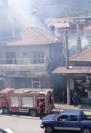 Söke'de metruk binada yangın