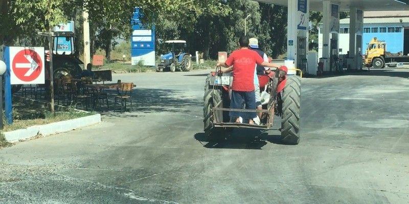 Aydın'da tehlikeli yolculuk