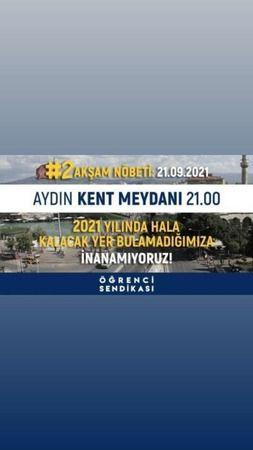 Aydın'da öğrencilerden yüksek kiralara tepki