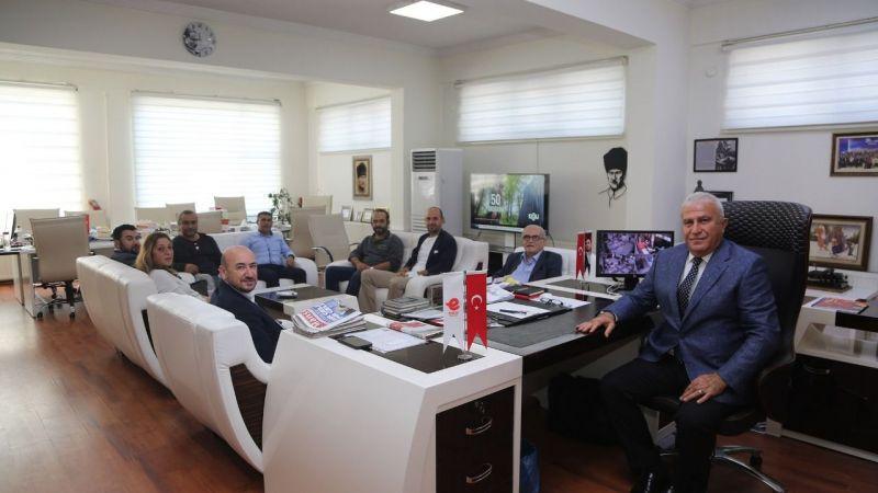 Başkan Ülken ve sürücü kurslarından Efeler Belediyesi'ne ziyaret