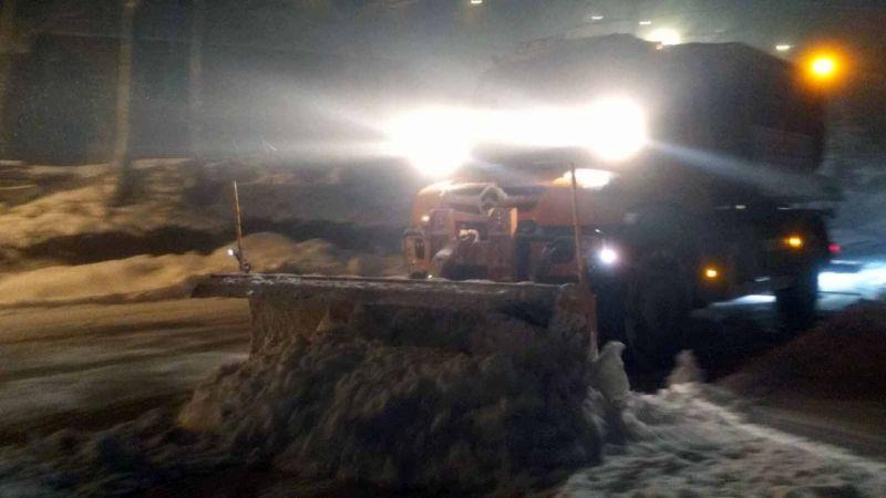 Büyükşehir kar timi görev başında