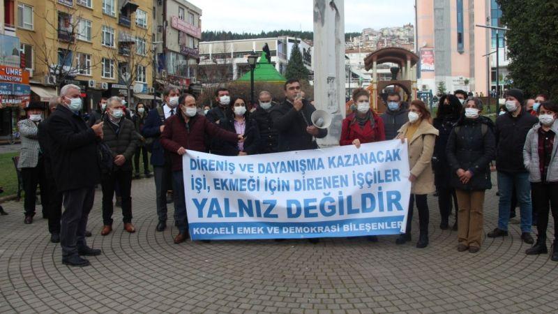 Emek ve Demokrasi Platformu grevdeki işçilerin yanında