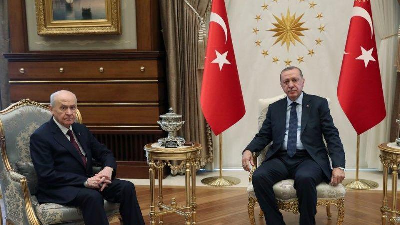 Cumhurbaşkanı Erdoğan ve Bahçeli görüşmeye başladı