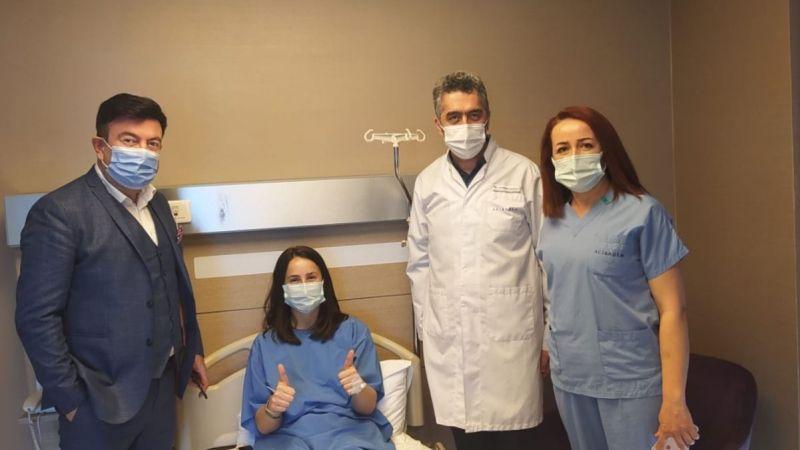 Kübra Erat'ın ameliyatı başarılı geçti