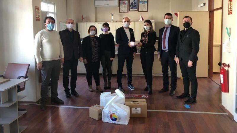 Rehabilitasyon merkezlerine maske ve dezenfektan desteği