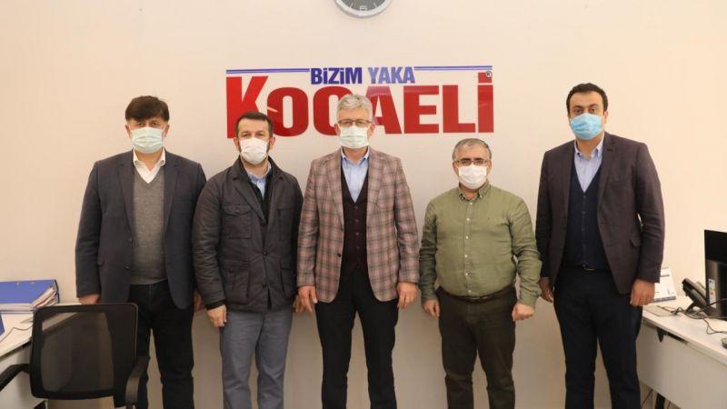 """AK Parti İl Başkanı Ellibeş gazetemizi ziyaret etti: """"Restoran ve kafelerin açılmasını istiyoruz"""""""