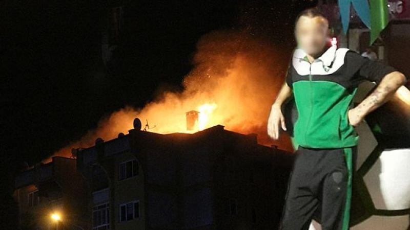 Ailesiyle tartışınca evi ateşe veren şahıs gözaltına alındı