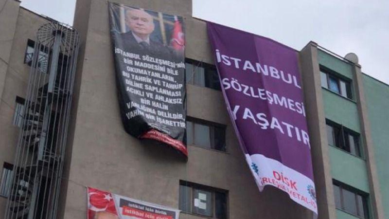 MHP Kocaeli ile sendika arasında afiş yarışı