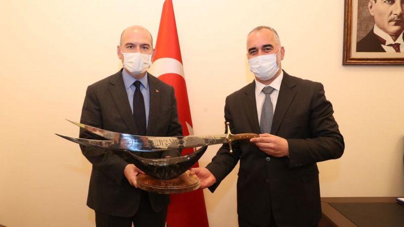 Başkan Yıldırım'dan Bakan Soylu'ya taziye ziyareti