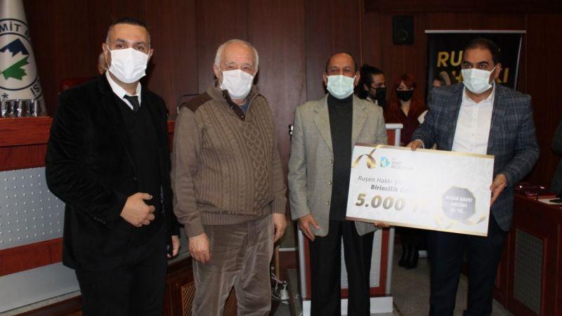 Ruşen Hakkı şiir yarışması ödülleri verildi