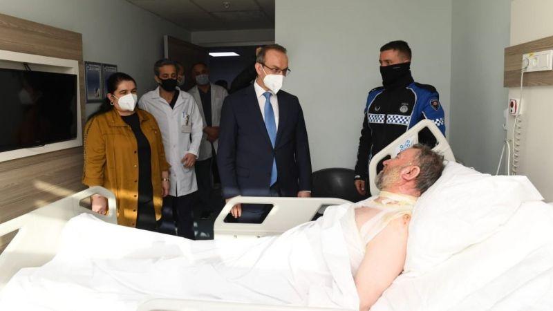Vali Yavuz patlamada yaralanan işçileri ziyaret etti