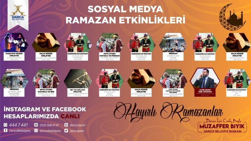 Darıca Belediyesi Ramazan etkinliklerini sosyal medyadan yapacak