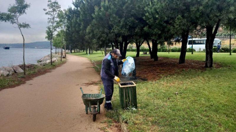 Büyükşehir'den mesire yerleri ve yeşil alanlarda temizlik çalışması