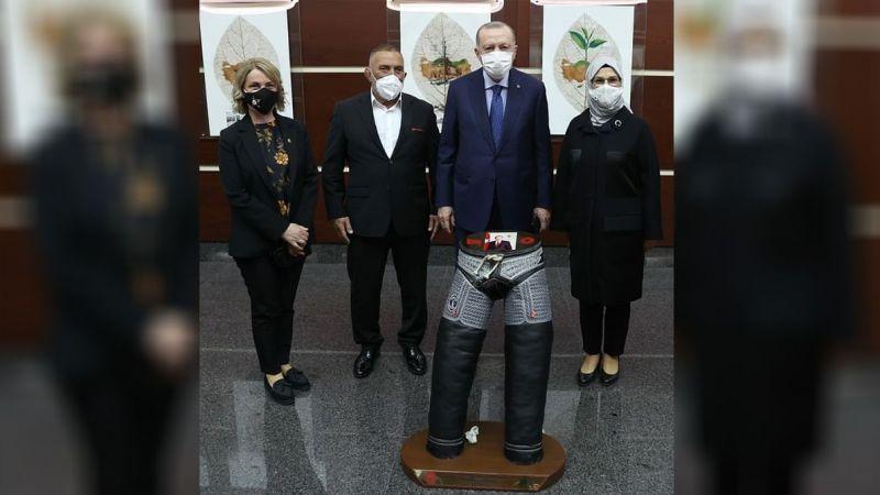 Başpehlivan Taşçı'dan Cumhurbaşkanı Erdoğan'a ziyaret