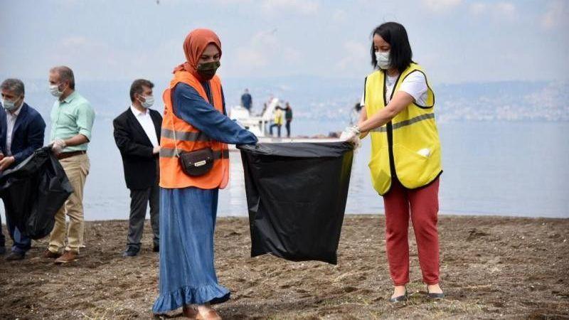 Başiskele'de deniz temizliği seferberliği