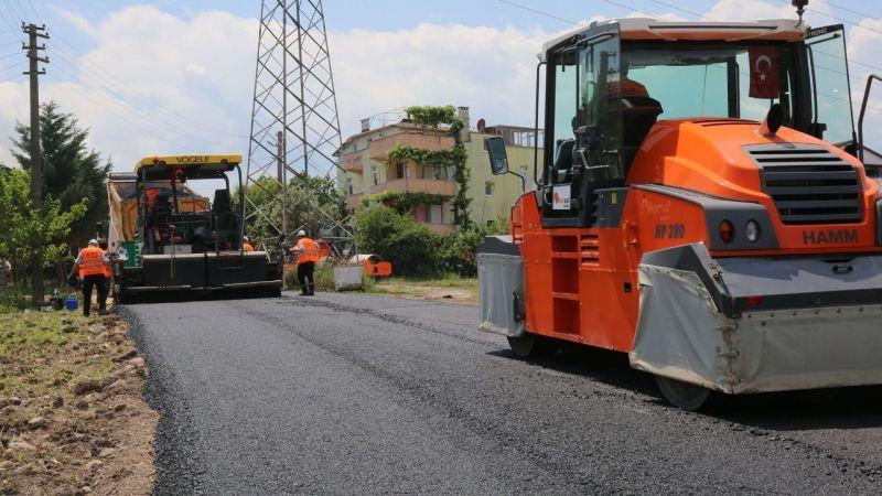 Gölcük'e bir haftada 2 bin 300 ton asfalt
