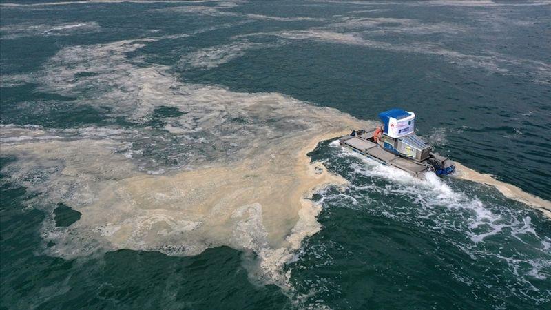 Marmara Denizi'nde 4 bin 555 metreküp müsilaj temizlendi