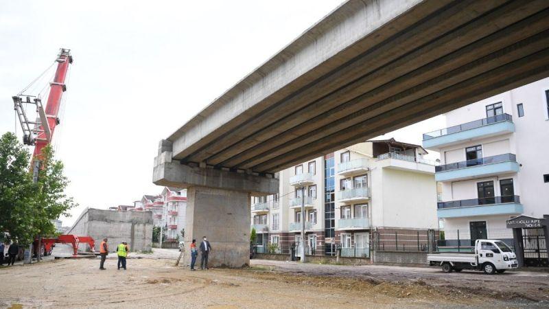 Ataevler köprüsünde çalışmalar hızla ilerliyor