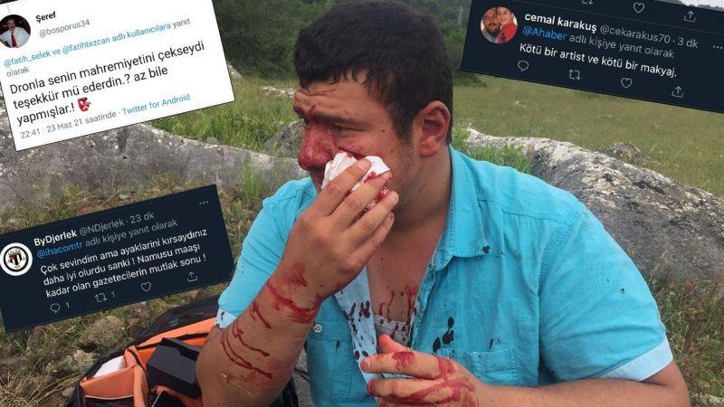 Öldüresiye dövülen muhabire yapılan çirkin yorumlar pes dedirtti
