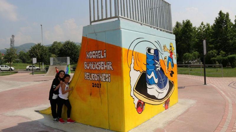 Başiskele Kaykay Pisti, grafitiyle renklendi