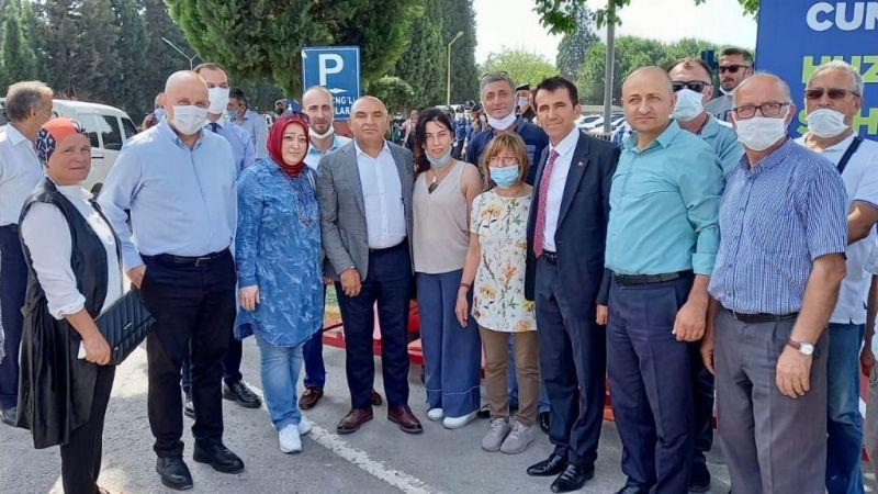 Tahsin Tarhan CHP heyetiyle Sakarya'daydı