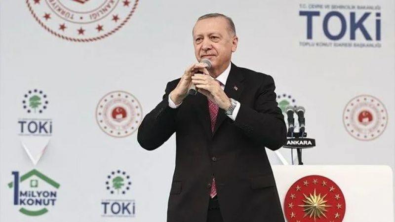 """Cumhurbaşkanı Erdoğan: """"258 bin konut için kolları sıvadık"""""""