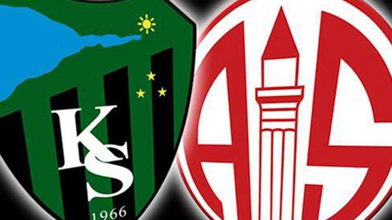 Antalya maçı kesinleşti
