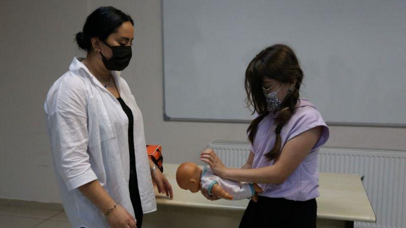 KO-MEK kursiyerlerine ilk yardım eğitimi