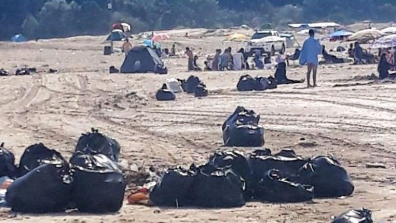 Tatilciler plajları çöpe çevirdi: 45 ton çöp çıktı!