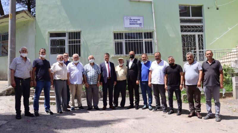 Akşemsettin Camii'ne malzeme desteği