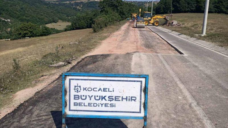 Belen ve Kalburcu köylerini bağlayan yolda asfaltlama