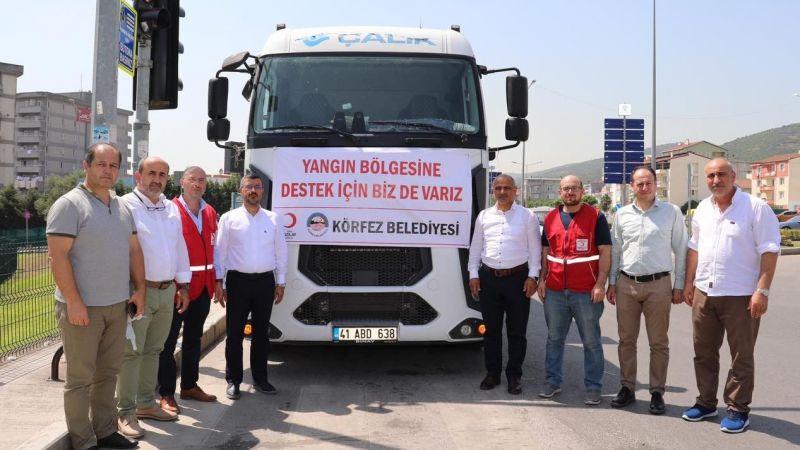 Körfez'den Manavgat'a 1 kamyon yardım malzemesi