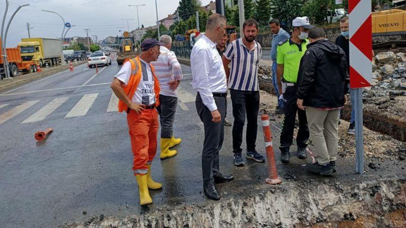 Gölcük Belediyesi sağanak yağışa karşı önlem aldı