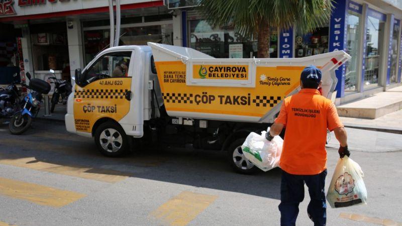 Çayırova'da çöp taksi hizmete başladı