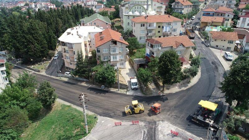 Şehitler Caddesi asfalt serimi tamamlandı
