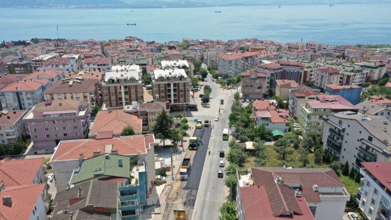 Tuzla Caddesi'nde yol konforu arttırılıyor