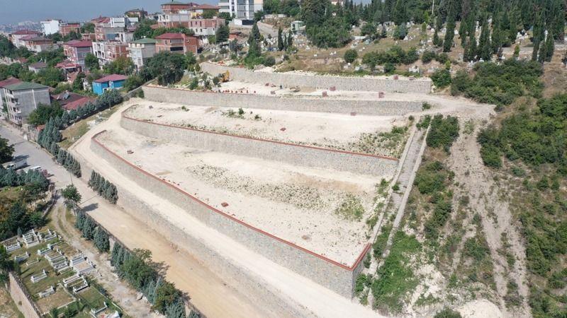 Orhangazi Mezarlığı'ndaki çalışmalarda sona doğru