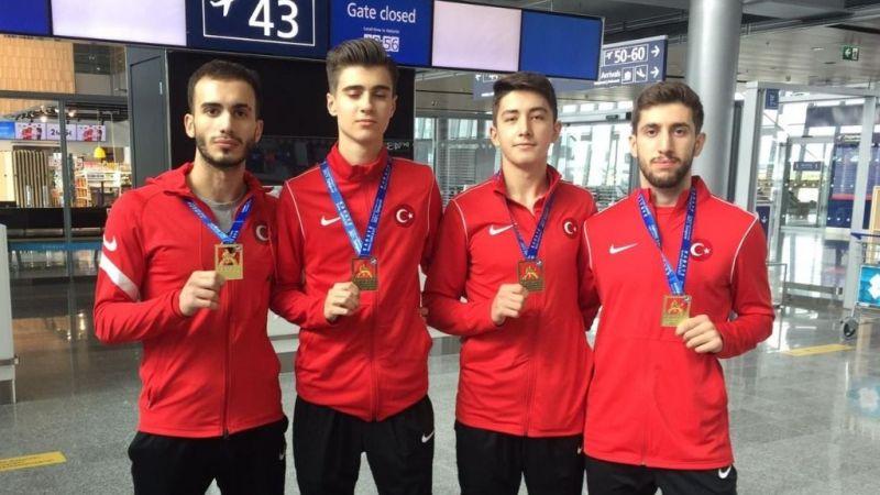 Karateciler Avrupa şampiyonasından 4 madalya ile döndü