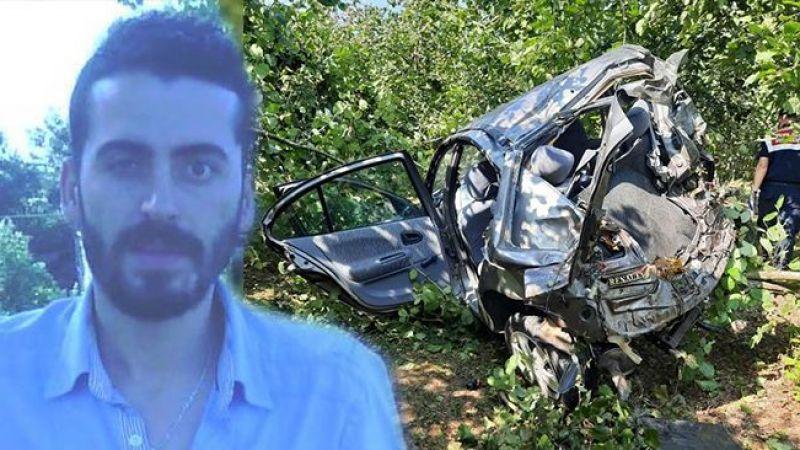 Kontrolden çıkan araç fındık bahçesine düştü: 1 ölü, 1 ağır yaralı