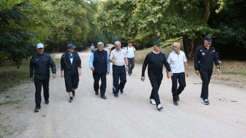Çınarlıdere'de sabah yürüyüşü