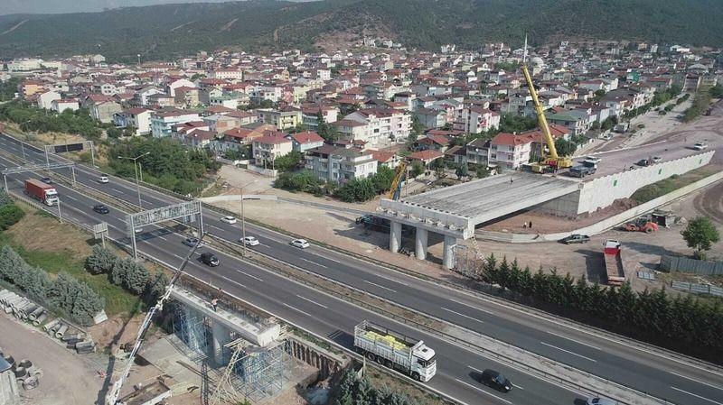 TEM üzerinden geçiş köprüsü çalışmaları devam ediyor