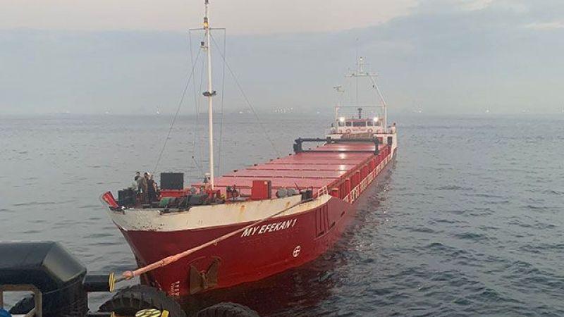 Kocaeli'den demir alan gemi Boğaz'a girerken arızalandı
